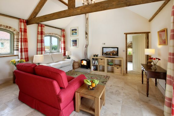 Cake house lounge, High Barn Cottages, Heritage Escapes