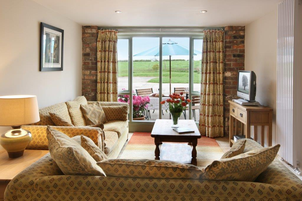 The Byre living area at Field House Farm cottages