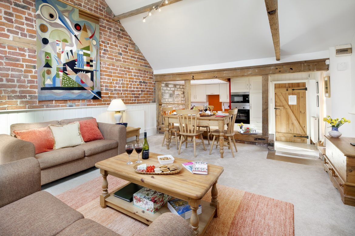 The Old Dairy open plan living area