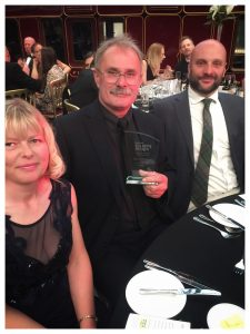 James, John and Fiona at 2019 visit York awards